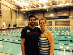Mom and I at the Spire Institute post-swim.