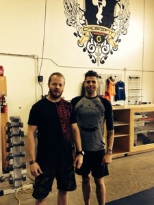 PJ and I at the CF Endurance Seminar at CrossFit Meridian