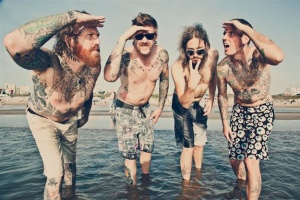 The boys of Mastodon in their tattooed glory!