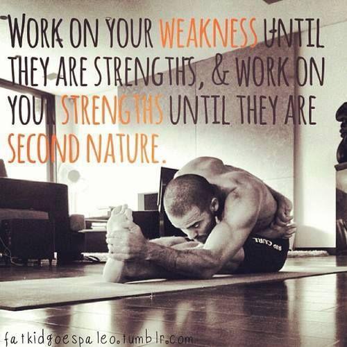Znalezione obrazy dla zapytania work your weakness